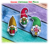 NFA Gnome Christmas Felt Pieces Embroidery Machine Design