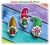 NFA Gnome Christmas Felt Pieces Embroidery Machine Design