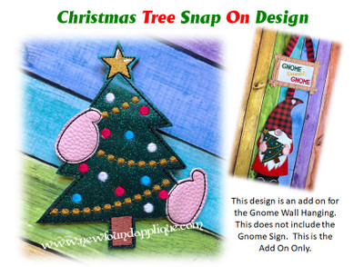 This is the listing for the Tree Snap On Decoration only. The Gnome sign with Heart In Hands is sold in a separate listing.