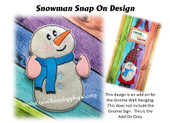 In The Hoop Snowman Snap On Decoration For Gnome Sign Embroidery Machine Design