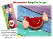 In The Hoop Watermelon Snap On Decoration For Gnome Sign Embroidery Machine Design