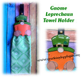 In The Hoop Gnome Leprechaun Towel Holder Embroidery Machine Design
