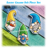 In The Hoop Gnome Easter Feltie Embroidery Machine Design Set