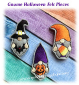 In the Hoop Gnome Halloween Feltie Embroidery Machine Design Set