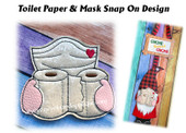 This is the listing for the Toilet Paper N Mask Snap on Design only. The Gnome Sign with Heart In Hands Snap on is sold in a separate listing.