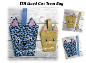 In The Hoop Lined Cat Treat Bag Embroidery Machine Designs