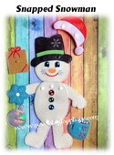 In The Hoop Snapped Snowman Embroidery Machine Design Set