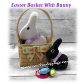 In The Hoop Easter Basket and Chocolate Bunny Stuffy Embroidery Machine Design Set