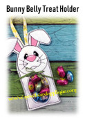 In The Hoop Bunny Belly Treat Holder Embroidery Machine Design