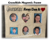 In The Hoop Magnetic Grand Kids Frame 6 Picture Embroidery Machine Design