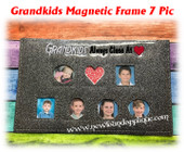 In The Hoop Magnetic Grand Kids Frame 7 Picture Embroidery Machine Design