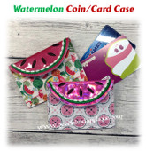 In The Hoop Watermelon Slice Coin Card Case Embroidery Machine design
