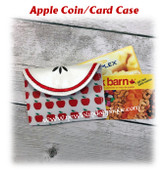 In The Hoop Apple Slice Coin Card Case Embroidery Machine Design