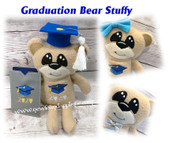 In The Hoop Graduation Bear with Gift Card Holder Embroidery Machine Design Set