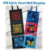 In The Hoop Fabric Panel Wall Hanging Embroidery Machine design Set