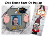 In The Hoop Graduation Frame Snap On Design for Gnome Wall Hanging Embroidery Machine Design
