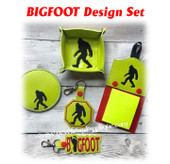 In The Hoop Bigfoot EMbroidery Machine Design Set