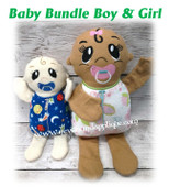 In The Hoop Baby Bundle BOY N GIRL Stuffed Toy Embroidery Machine Design Set