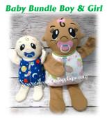 In The Hoop Baby Bundle BOY N GIRL Stuffed Toy Embroidery Machine Design Set