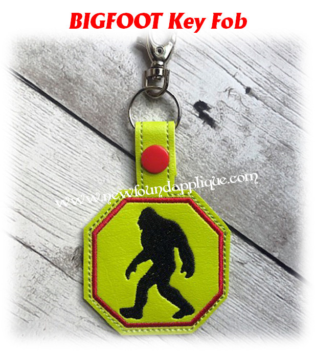 Key fob Big Foot MADE TO ORDER