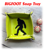 In The Hoop Bigfoot Snap Tray Embroidery Machine Design Set