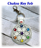 In The Hoop Chakra Key Fob Embroidery Machine Design