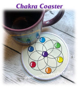 In The Hoop Chakra Coaster Embroidery Machine Design