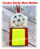 In The Hoop Chakra Sticky Note Holder Embroidery Machine Design