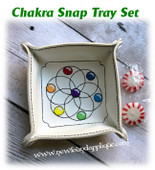 In The Hoop Chakra Snap Tray Embroidery Machine Design Set