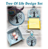 In The Hoop Tree Of Life Embroidery Machine Design Set