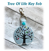 In The Hoop Tree Of Life Key Fob EMbroidery Machine Design