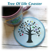 In The Hoop Tree Of Life Coaster Embroidery Machine Design