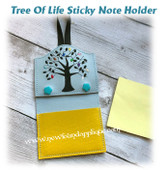 In The Hoop Tree Of Life Sticky Note Holder Embroidery Machine Design