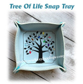In The Hoop Tree Of Life Snap Tray Embroidery Machine Design Set