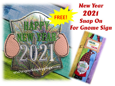 This is the listing for the free snap on 2021 New Year design only.  The Gnome with Heart In hands Design is sold in a separate listing.