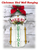 In The Hoop Christmas Sled Wall Hanging Embroidery Machine Design