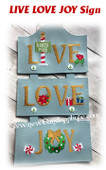 In The Hoop LIVE LOVE JOY Wall Hanging Embroidery Machine Design