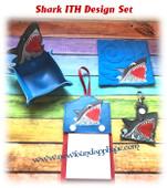 In The Hoop Shark Embroidery Machine Design Set