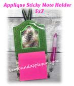 NFA Applique Sticky Note Holder 5x7 Embroidery Machine Design