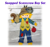 In The Hoop Snapped Scarecrow Boy Embroidery Machine Design set