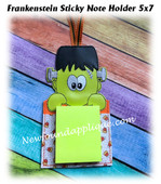 In The Hoop Frankenstein Sticky Note Holder Embroidery Machine Design