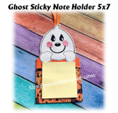 In The Hoop Ghost Sticky Note Holder Machine Embroidery Design