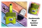 In The Hoop Frankenstein Hand Sanitizer Holder Embroidery Machine Design