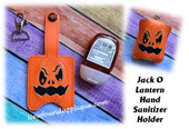 In The Hoop Jack O Lantern Hand Sanitizer Holder Embroidery Machine Design