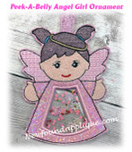 In The Hoop Peek A Belly Angel Girl Ornament Embroidery Machine Design