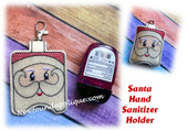 In The Hoop Santa Hand Sanitizer Holder Embroidery Machine Design