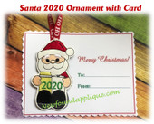 In The Hoop Santa 2020 Ornament Embroidery Machine design