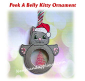 In The Hoop Peek A Belly Kitty Ornament Embroidery Machine Design