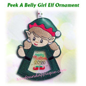 In The Hoop Peek A Belly Elf Girl Ornament Embroidery Machine Design