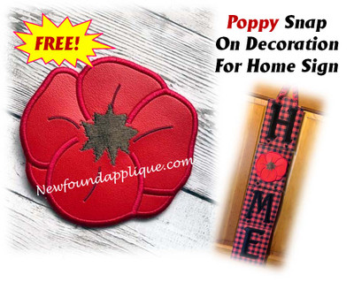 This is the listing for the snap on poppy decoration only.  The HOME sign with Heart Snap On is available in a separate listing. Many other snap on decorations for the Home sign are also available in separate listings.